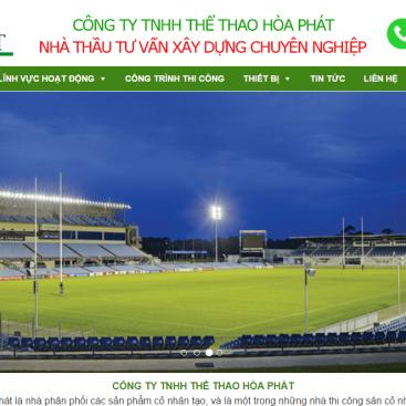 Mẫu website giới thiệu công ty Hòa Phát_