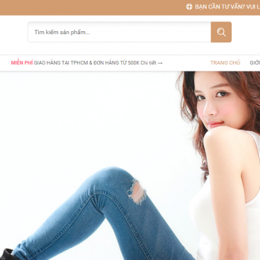 Mẫu website bán hàng online đồ da