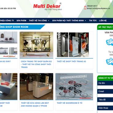 mẫu website nội thất multidekoer.vn
