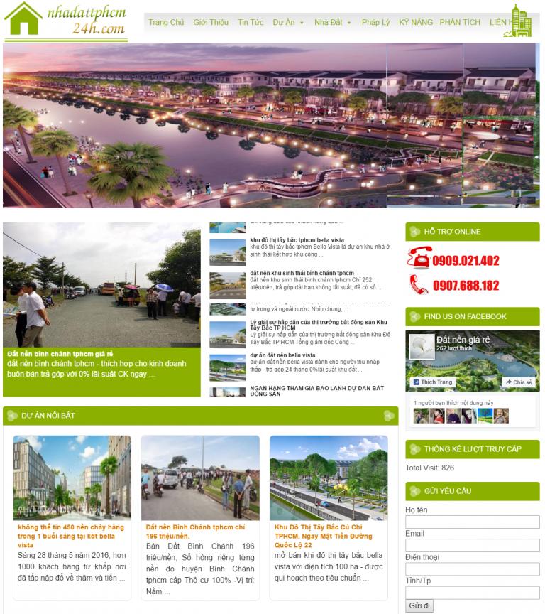 mẫu website nhà đất tphcm