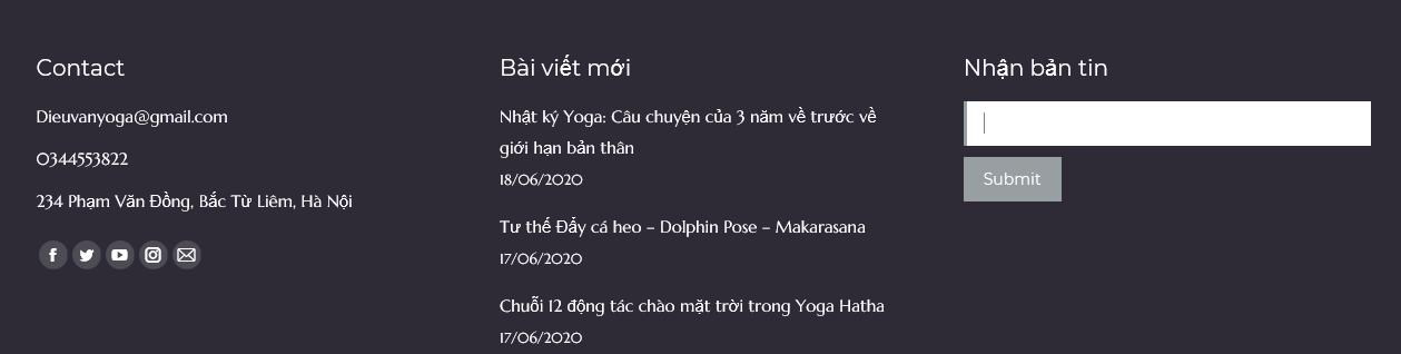 Thông tin liên hệ của VEO YOGA
