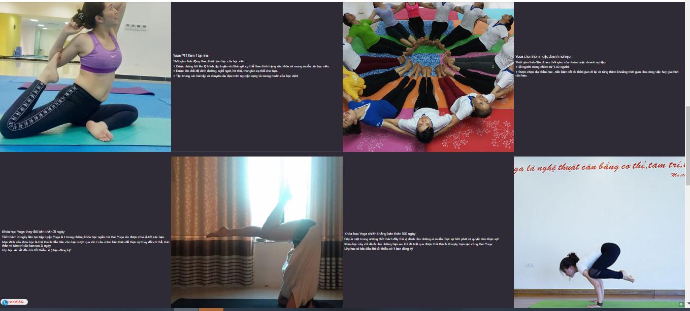 Nội dung các khóa học tại VEO YOGA