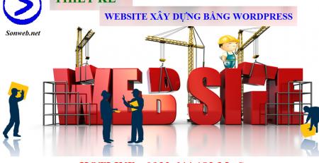 Thiết kế website xây dựng bằng wordpress