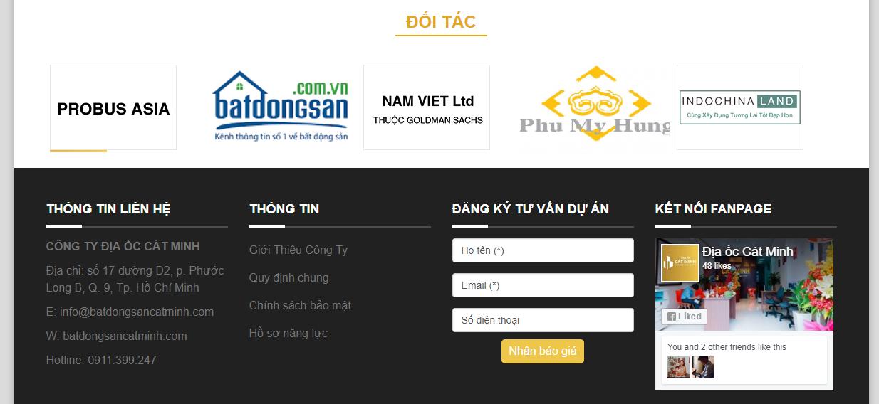 Thiết kế website bất động sản chuẩn SEO giá rẻ quận 9