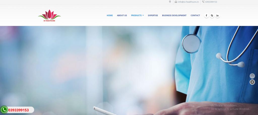 Mẫu website giới thiệu công ty phân phối dược phẩm tại tphcm