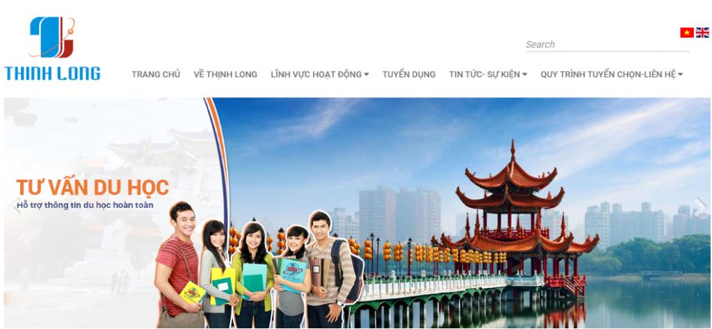 Mẫu website tư vấn lao động và xuất khẩu lao động chuẩn SEO