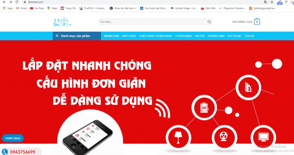 Mẫu website bán thiết bị nhà thông minh chuẩn SEO