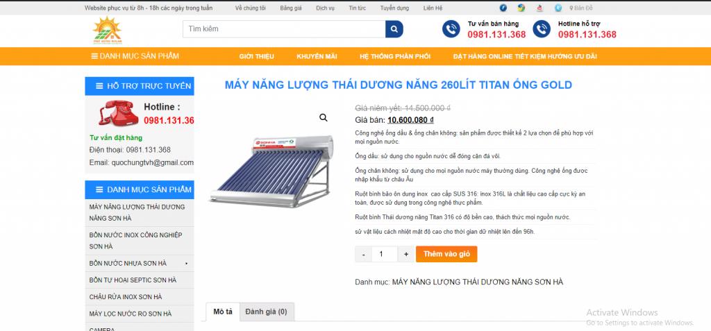 Mẫu website bán hàng sản phẩm Giải pháp Nhà Thông Minh và Điện Mặt Trời