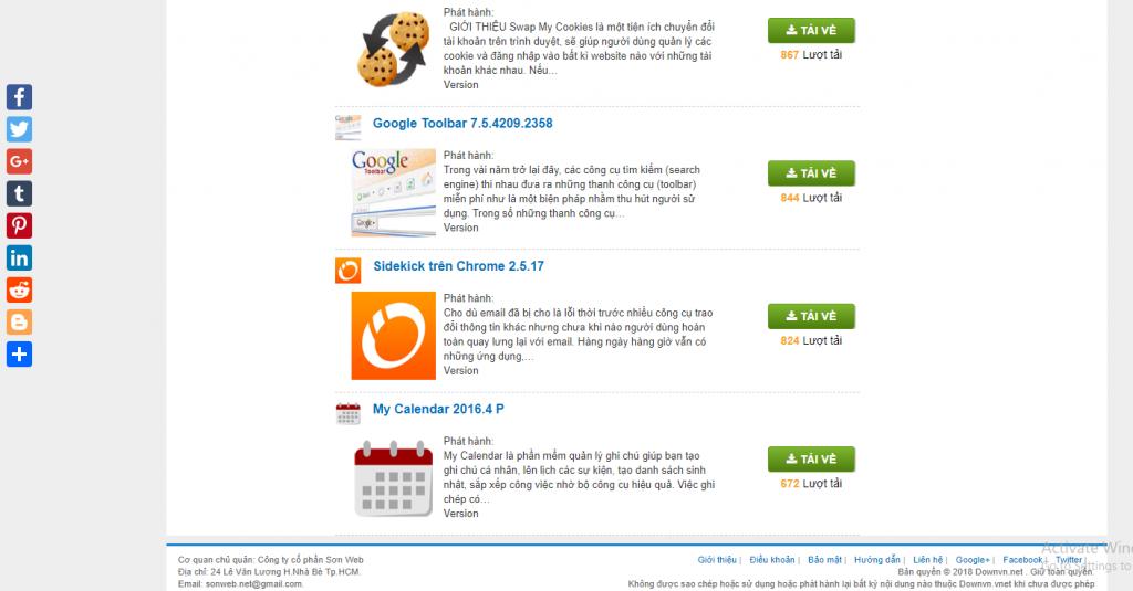 Mẫu Website chia sẽ phần mềm miễn phí