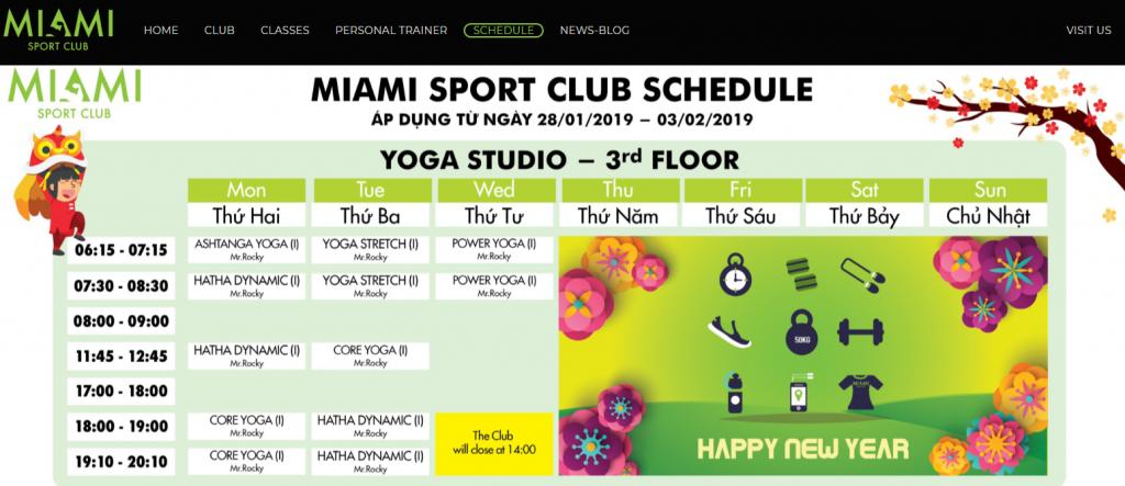 Mẫu website giới thiệu câu lạc bộ thể dục thể thao