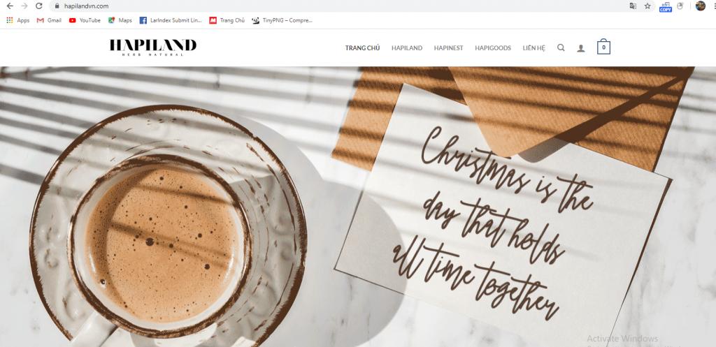 Mẫu website bán hàng Sản phẩm làm đẹp hữu cơ từ thiên nhiên