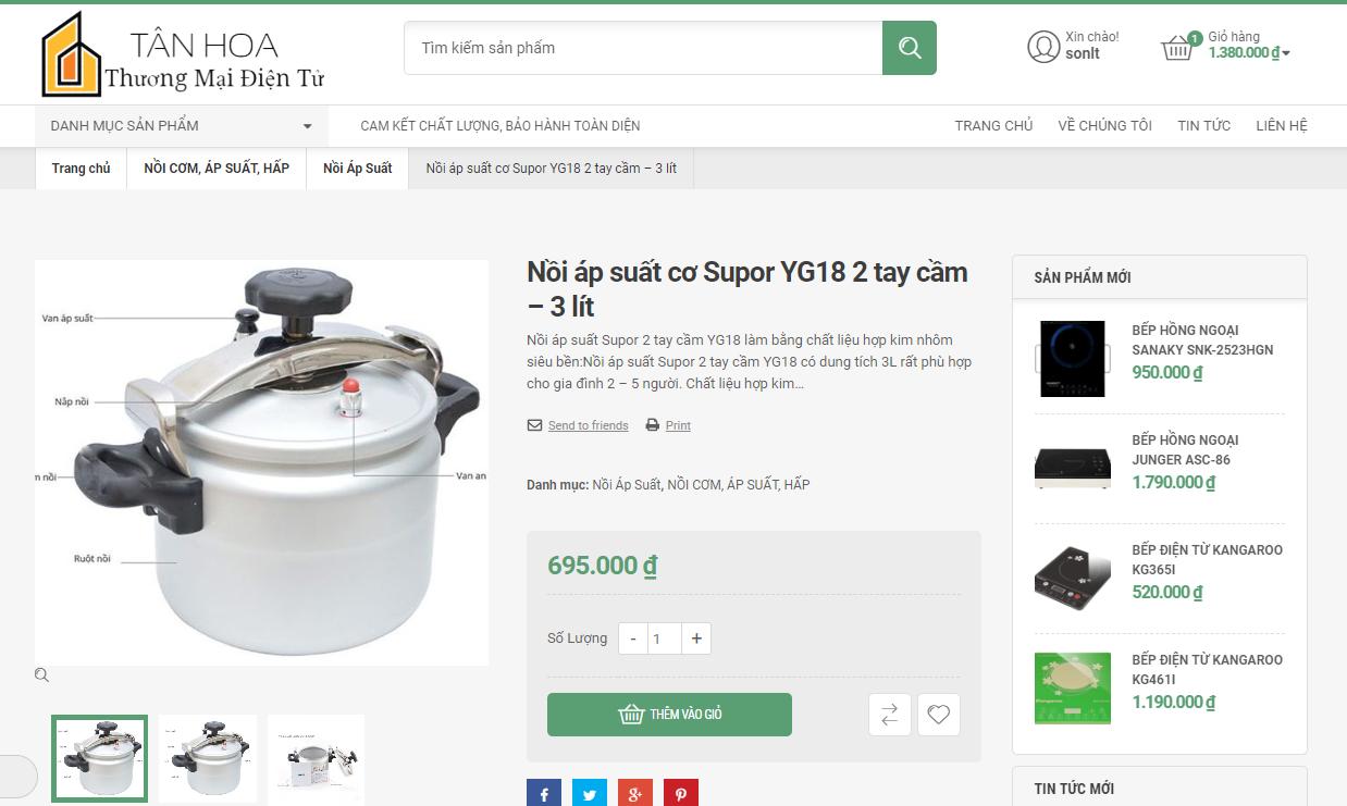 Mẫu web bán hàng thương mại điện tử