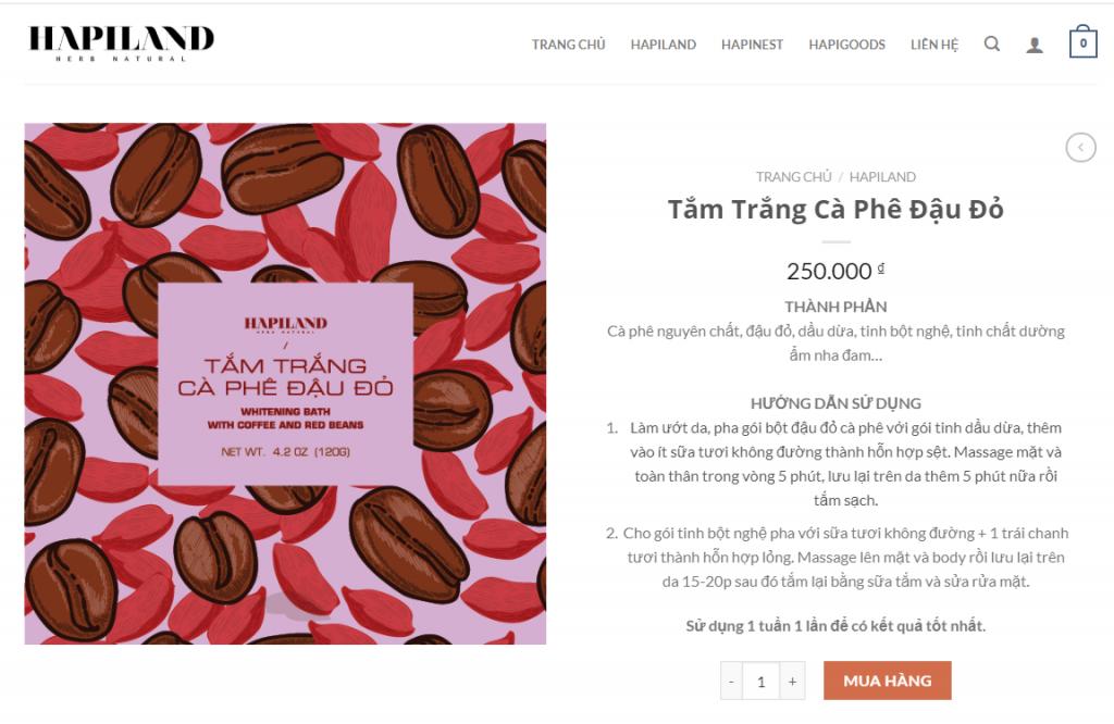 Mẫu website kinh doanh sản phẩm mật ong tại quận Tân Phú