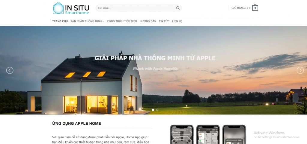 Mẫu website bán hàng sản phẩm smarthome