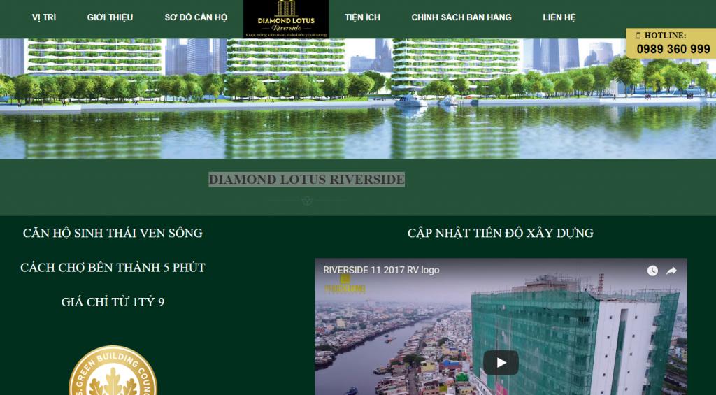 Mẫu website bất động sản Riverside Phúc Khang Việt Nam