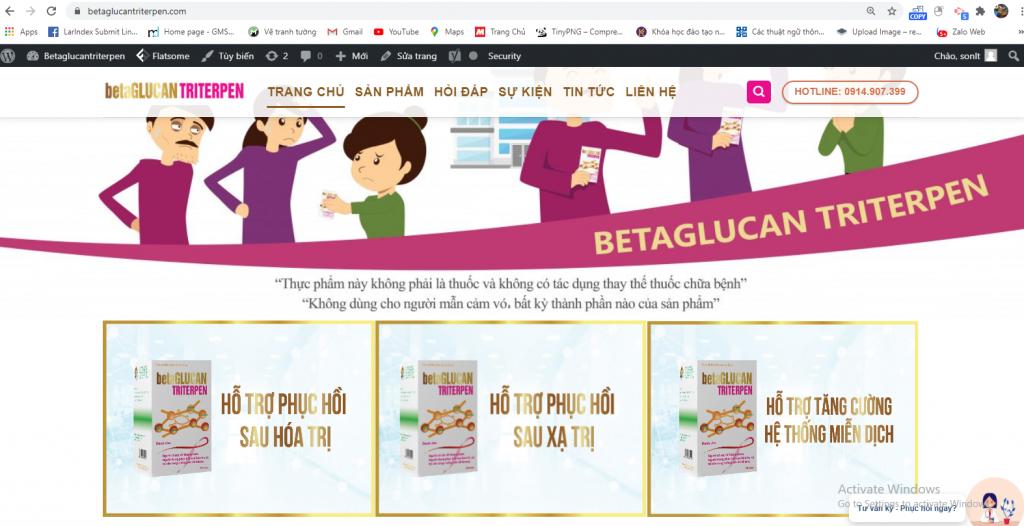 Mẫu web bán hàng thiết kế theo yêu cầu cho doanh nghiệp