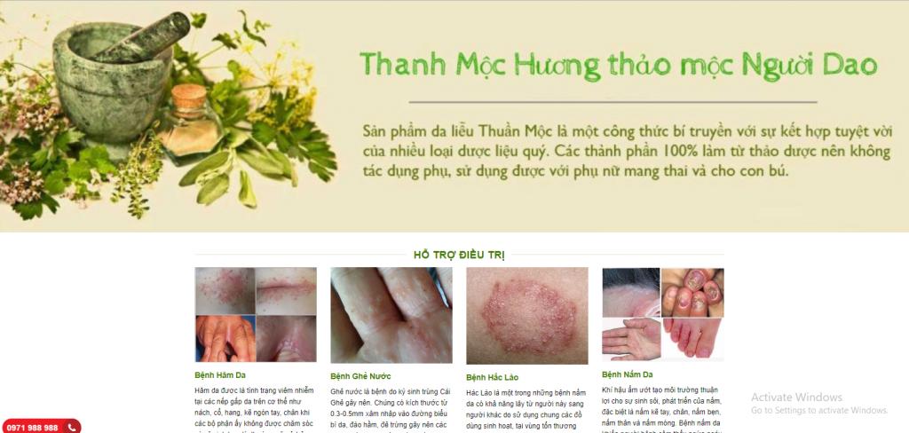 Mẫu web kinh doanh thuốc Đông Y