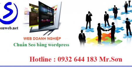 Thiết kế website doanh nghiệp tại tphcm bằng wordpress