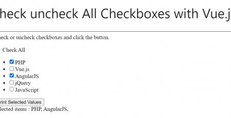 all checkbox vue.js