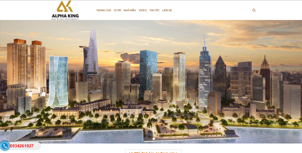 Mẫu website dự án bất động sản Alpha City