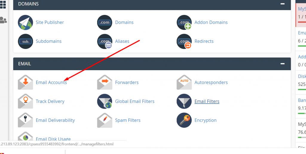 Tạo email theo tên miền trên Host