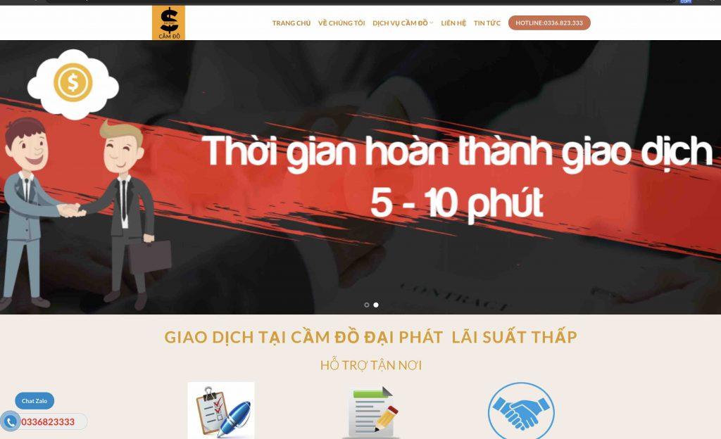 Mẫu Thiết kế Website dịch vụ Cầm đồ chuẩn SEO