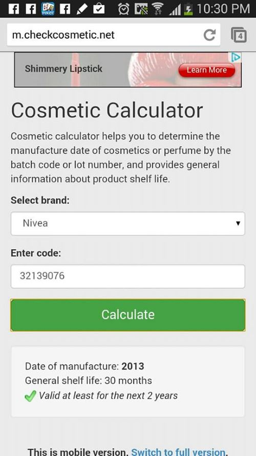 check cosmetic 1