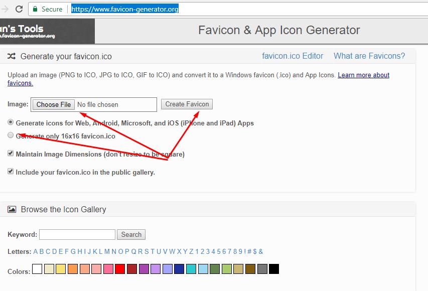 Cách tạo file favicon