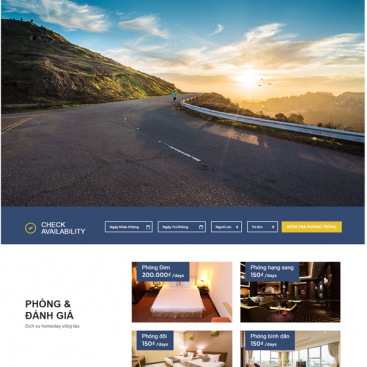 Mẫu website du lịch dịch vụ homestay