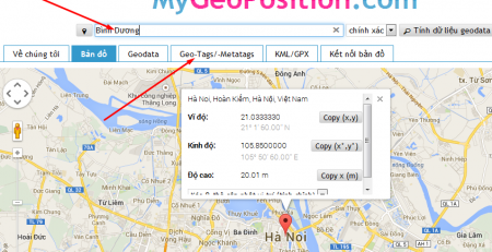 tao the geo meta trong web