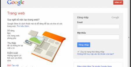 Hướng dẫn cách tạo website miễn phí trên google
