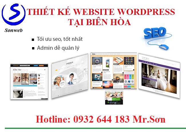 Thiết kế website wordpress Biên Hòa