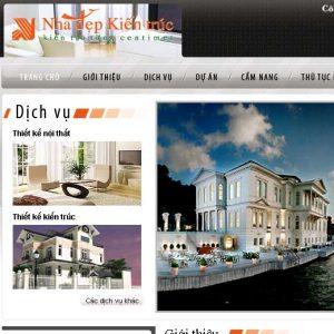 Làm web kiến trúc - nội thất - xây dựng