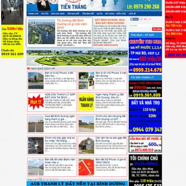mâu website nhà đất bình dương