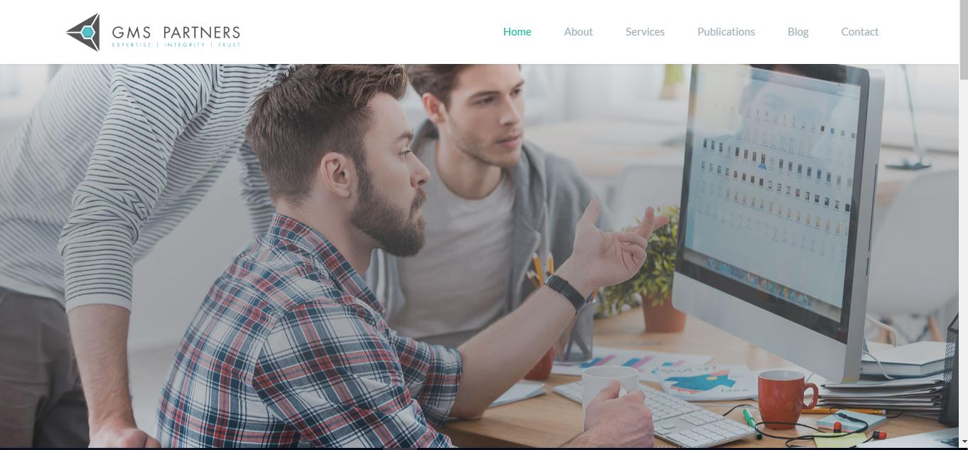 Mẫu website giới thiệu công ty GMS