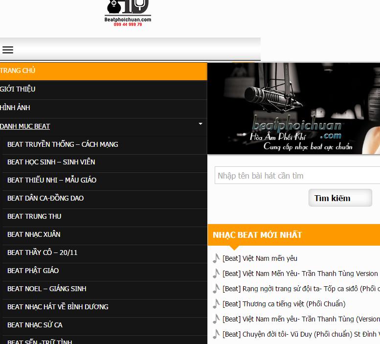 hướng dẫn tạo menu slide panel trên worddpress