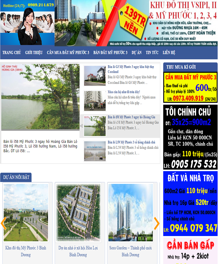 mẫu website bất động sản myphuoc3