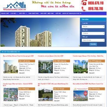 mẫu website nhà đất căn hộ