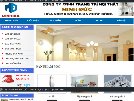 thiet ke website trang tri noi that