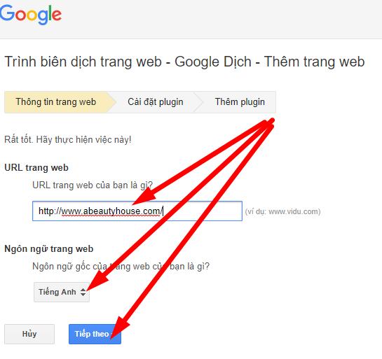 Hướng dẫn Chèn Google translate vào website - thiết kế website