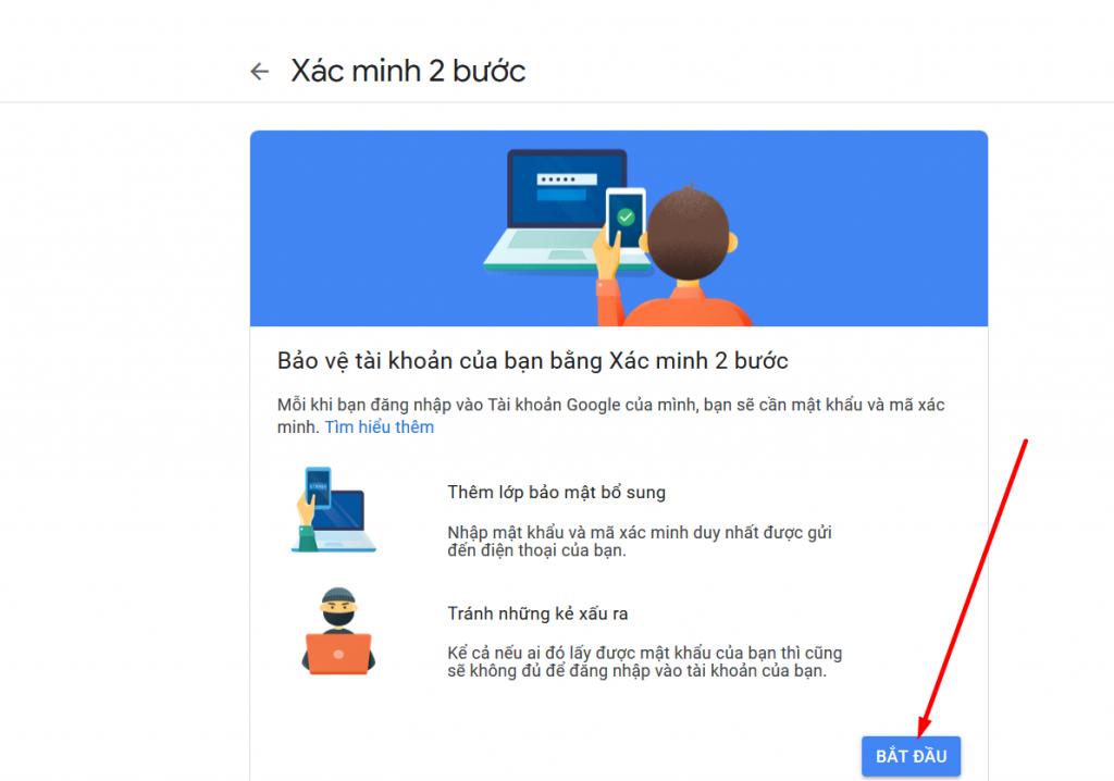 Cấu hình gửi email xác minh 2 bước gmail