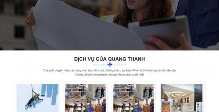 mẫu website sơn sửa nhà đẹp