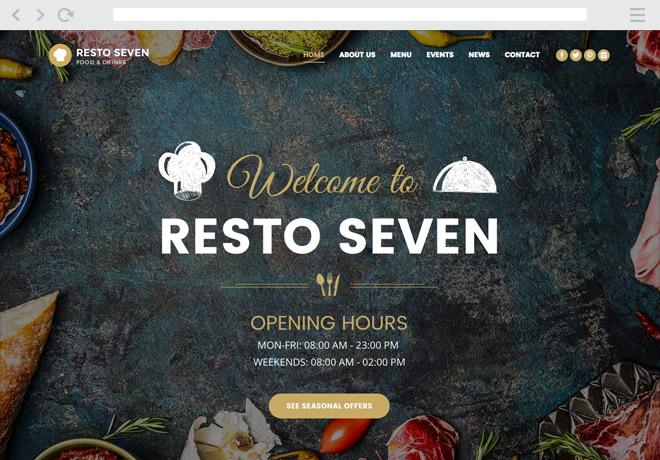 Mẫu website nhà hàng wordpress