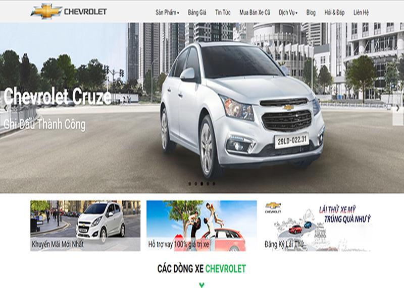 Mẫu website bán xe ộ tô bằng wordpress