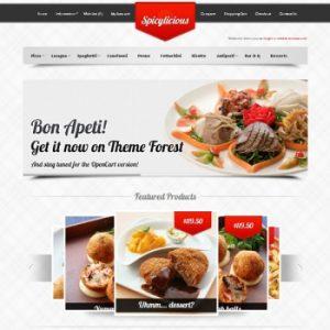 Thiết kế web ẩm thực nhà hàng