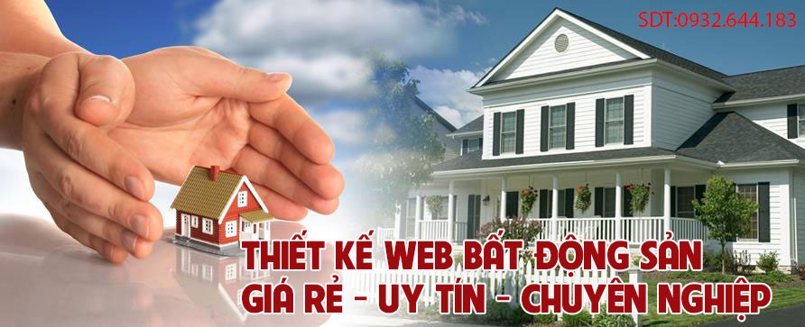 Thiết kế website bất động sản chuyên nghiệp giá rẻ