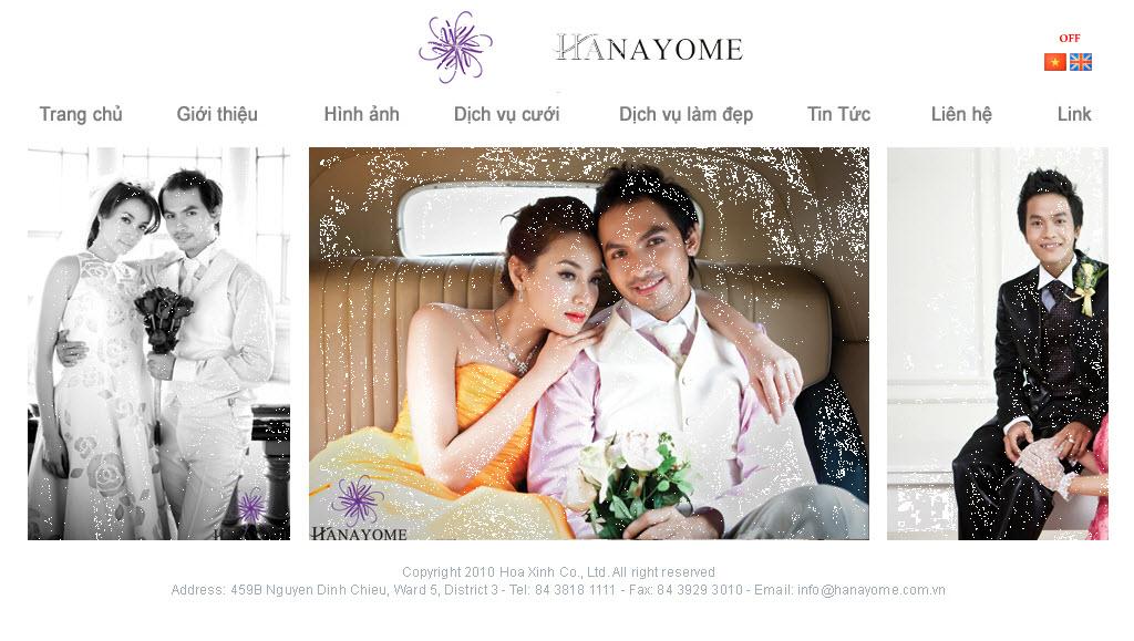 Thiết kế web cửa hàng áo cưới