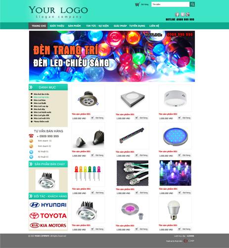 Thiết kế web điện dân dụng giá rẻ