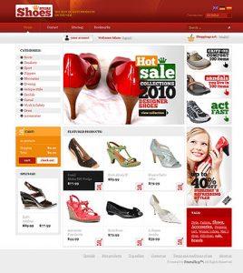 Thiết kế web giày dép giá rẻ