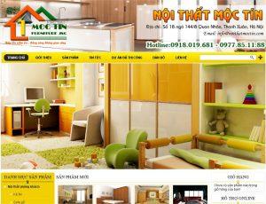 Thiết kế web kinh doanh đồ gỗ nội thất